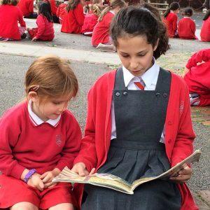 Reading with nursery 2