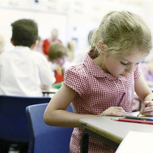Pupil colouring at Gate House School